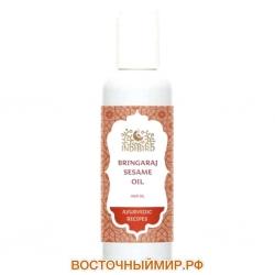 "Масло для волос Брингарадж на кунжуте (Bringaraj Sesame Oil) ""Indibird"", 150 мл."