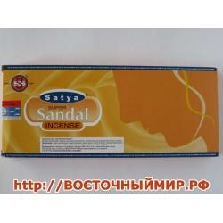 """Благовония Супер Сандал (Super Sandal) """"Satya"""", 90 г."""