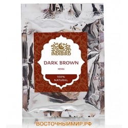 "Хна тёмно - коричневая (Dark Brown Henna) ""Indibird"", 50 г."