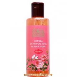 """Шампунь Алоэ Вера Роза (Aloe Vera Rose Shampoo) """"Indibird"""", 200 мл."""