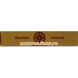 Тибетские сандаловые благовония Мандала инсенс (Mandala Brown incense), 45 шт.
