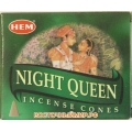 """Благовония в конусах Королева ночи (Night queen) """"HEM"""""""