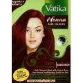Хна для волос VATIKA HENNA HAIR COLOURS BURGUNDY (Бордовая), 6 пакетиков по 10 г.