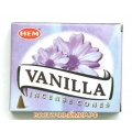 """Благовония в конусах Ваниль (Vanilla) """"HEM"""""""