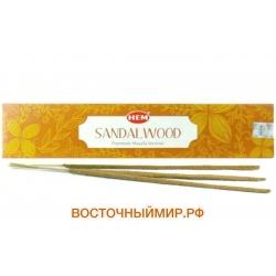 "Благовония Сандал (Sandal wood Masala) ""HEM"", 15 г."