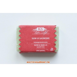 "Аюрведическое мыло Ним и базилик ""Bliss Style"", 100 г."